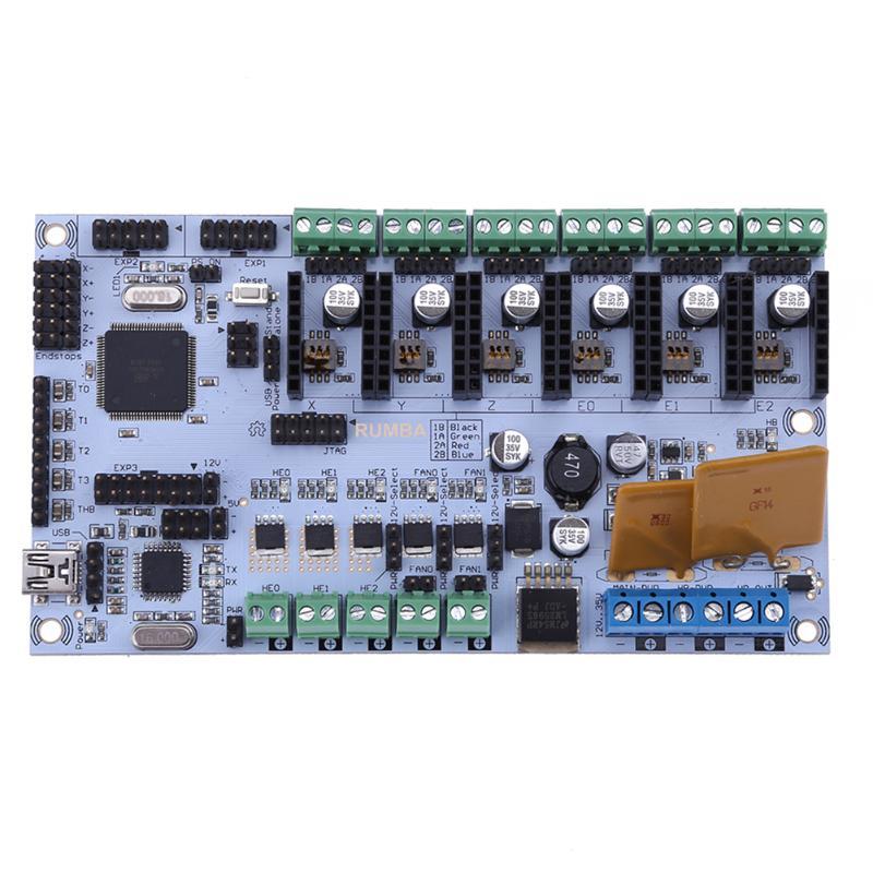 Rumba Atmega2560 3D Printer Control Board Support 3 Print Head Extruders 3D printer motherboard 3d printer driver controller rumba usb cable