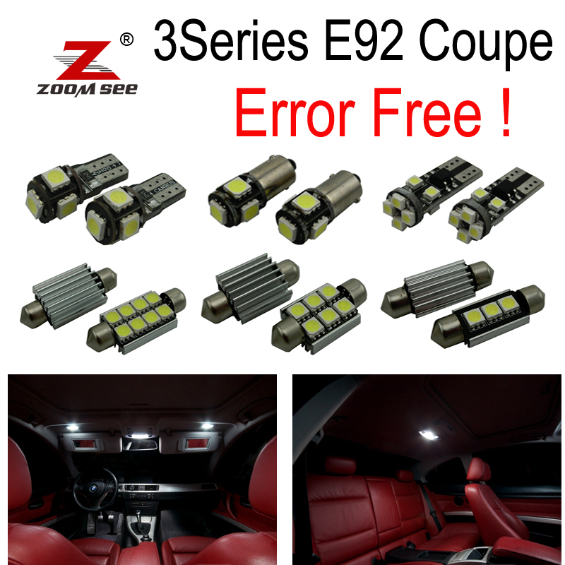 21pc X  free shipping! canbus LED Bulb Interior Light Kit for bmw E92 328i 328xi 335i 335is 335xi M3 coupe (2006-2012) источник света для авто eco fri led 18 x canbus bmw e92 3 328i 335i 335d 335i 3 2006
