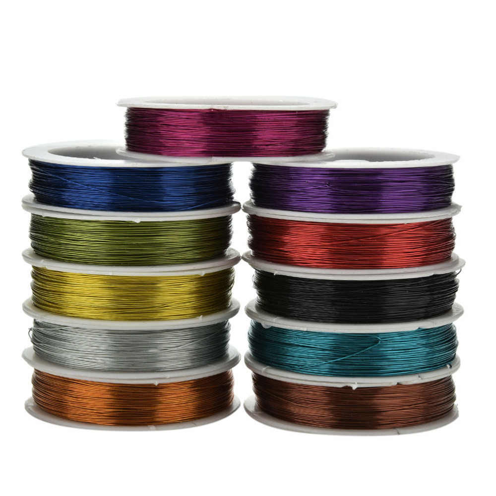 40m Iron Craft Wire 0.5mm Spool Soft DIY String Jewelry Craft Metal Wire for DIY Decorative Flowers Wreaths/Needle needle