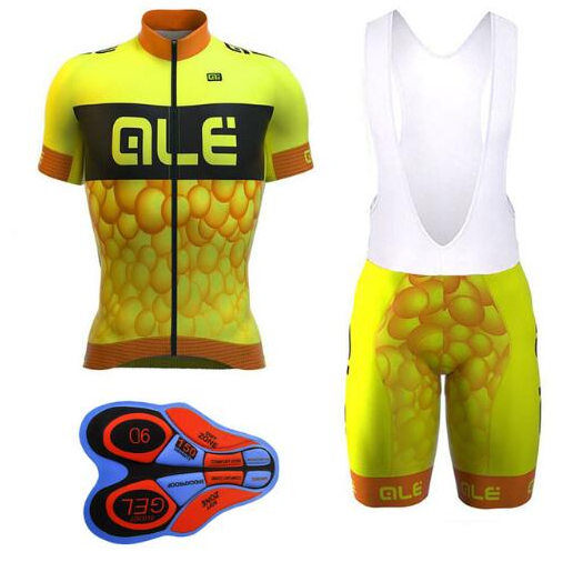 Cycling Jersey Summer ALE Pro 2018 Short Sleeve Wear Maillot Ropa Ciclismo hombre Bike Bicycle Clothing Bib Shorts 9D GEL