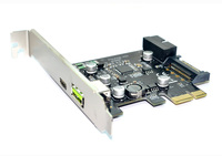 XT-XINTE PCI-e To USB3.1 Type-C Expansion Card PCIe To USB 2.4A Fast Charge + 19PIN Front USB Riser Card