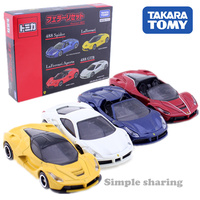 TAKARA TOMICA Ferrari set 4 Cars Mini Car Toy 488 GTB Spider Laferrari Aperta Toy car Motors vehicle Diecast metal model new