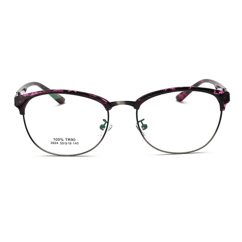 6ebadb3364 LIYUE Korean glasses women optical frame vintage 2017 Prescription eyewear  frames men Oval round metal glasses clear lens -in Eyewear Frames from  Apparel ...