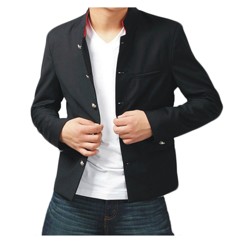 Slim Fit Crows Jacket Japanese Style School Uniform Red Collar Tunic Suit Jackets Short-Length