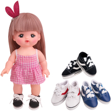 14.5-inch Girls doll fashionable 3 colors sports shoes PU American new born shoe Baby toys fit 16 inch and Milo dolls x40