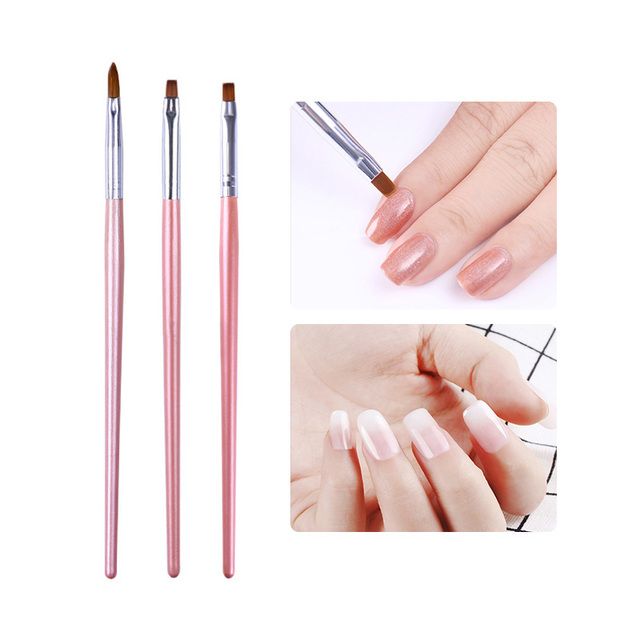 1 Pc Acrylic Nail Painting Brush Carving Flower Pen Nail Edge ...