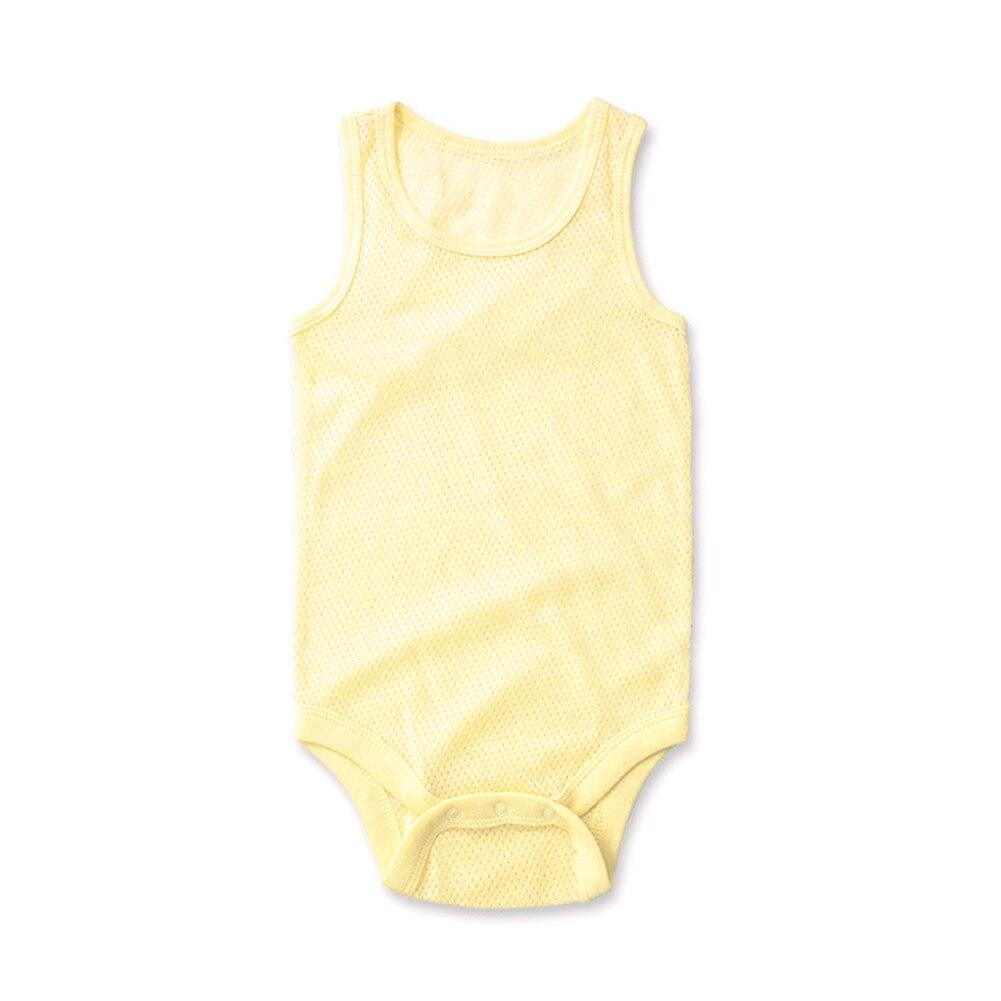1 Pc Jongens Of Meisjes 3-24 Maanden Katoen Zomer Bodysuits Baby Mesh Bodysuit Pasgeboren Body Vest Ademend Indoor Unisex Baby Fabala Gemakkelijk Te Smeren