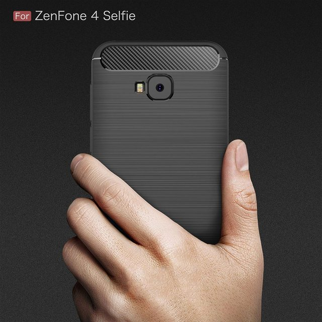 best website f424f 023cf US $2.09 35% OFF|Carbon Case For Asus Zenfone 4 Selfie Pro ZD552KL Case  Silicone Cover For Zenfone 4 Selfie Pro Case For Zenfone 4 Selfie  ZD552KL-in ...