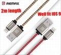 Remax МФО 8 Контактный Кабель 2 M 2.1A для iPhone 7 6 S 6 6 Плюс 5S 5 5C iPad Зарядное Устройство Кабель Плетеный Нейлоновый