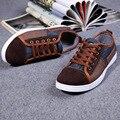Весной и осенью сезон горячие Мужские Повседневная обувь мужская обувь мода джинсовая Корейской молодежи обувь