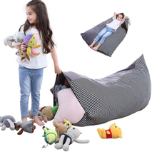 Storage Bag Toy Stuffed Animal Toys Bean Chair Portable Canvas ChildrenS Clothing Bags Organizer