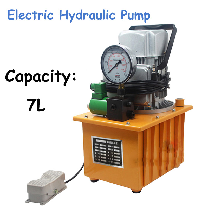 7L Electric Hydraulic Pump Oil Pressure Pump with Pedal Solenoid Valve Oil Pressure Pump HHB-700A high pressure hydraulic pump 0 75kw electric hydraulic pump oil pressure pedal hydraulic pump hhb 700a
