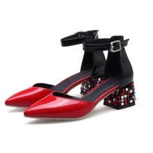 Summer Women Pumps Sexy High Heels Shoes ladies pointed high-heeled patent leather sandals Party Wedding Pump RED Woman shoes недорго, оригинальная цена