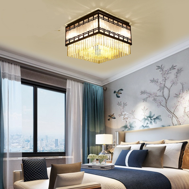 Chinesischen Stil Kristall Retro Deckenleuchten Rechteck Deckenleuchte Wohnzimmer Schlafzimmer Modell Zimmer Lampe Za628 Zl108 Grade Produkte Nach QualitäT Licht & Beleuchtung