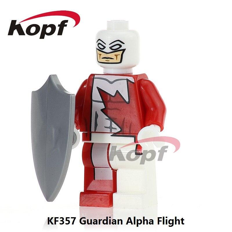Single Sale Guardian Alpha Flight Super Heroes Classic Yondu Prowler Luke Cage Building Blocks Bricks Children Toys Gift KF357