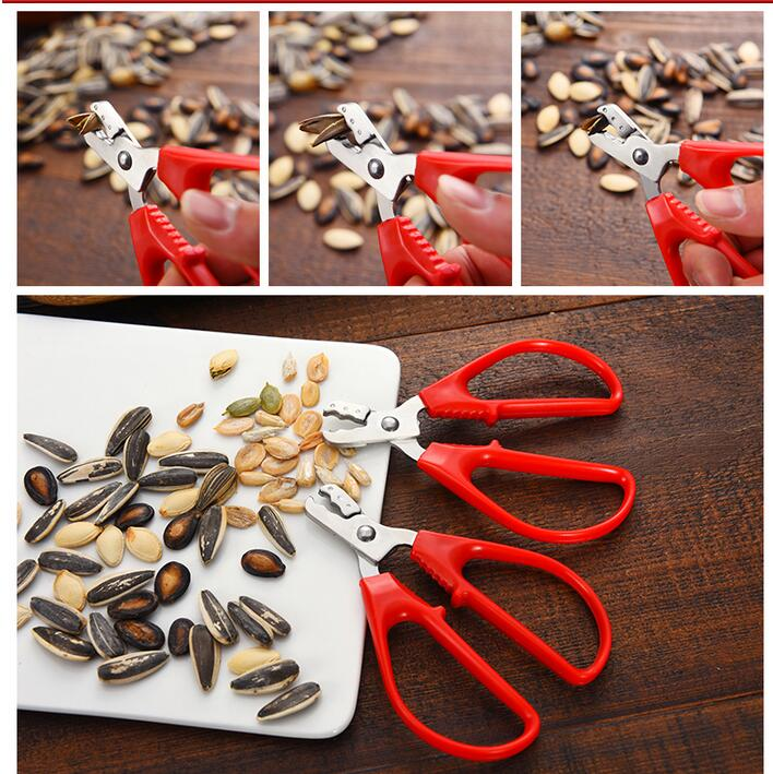 Stainless Steel Sunflower Seeds Clamp Shucker Pumpkin Seeds Nut Clip Food Processor High Quality Household ToolStainless Steel Sunflower Seeds Clamp Shucker Pumpkin Seeds Nut Clip Food Processor High Quality Household Tool