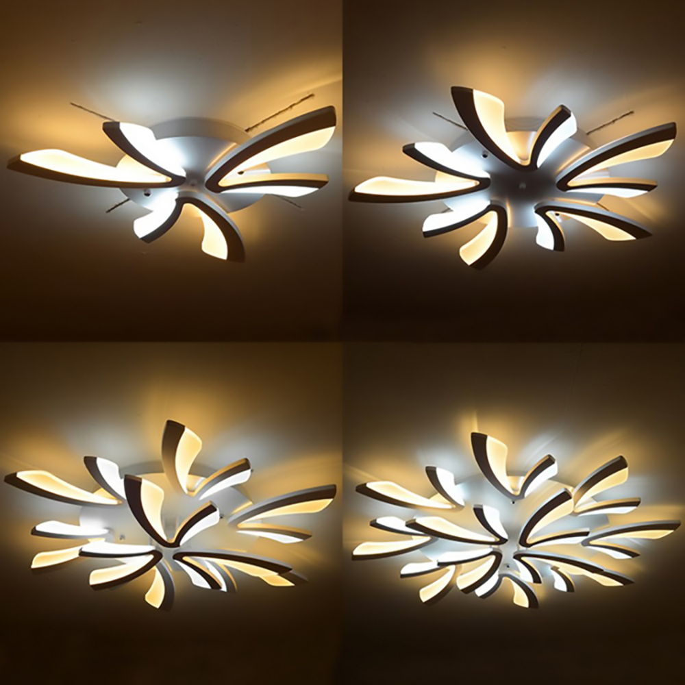 Ceiling lighti Acrylic Modern led ceiling living room chandeliers and pendants for dining room home Chandelier lamp fixture modern acrylic led chandelier lamp flush mount chandeliers light remote control home lighting fixture for living dining room