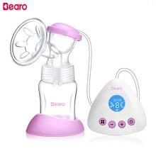 Bearo Elektromos mellpumpa LED kijelző USB újratölthető akkumulátor BPA nagy teljesítményű bimbó szívó szoptatás a doboz