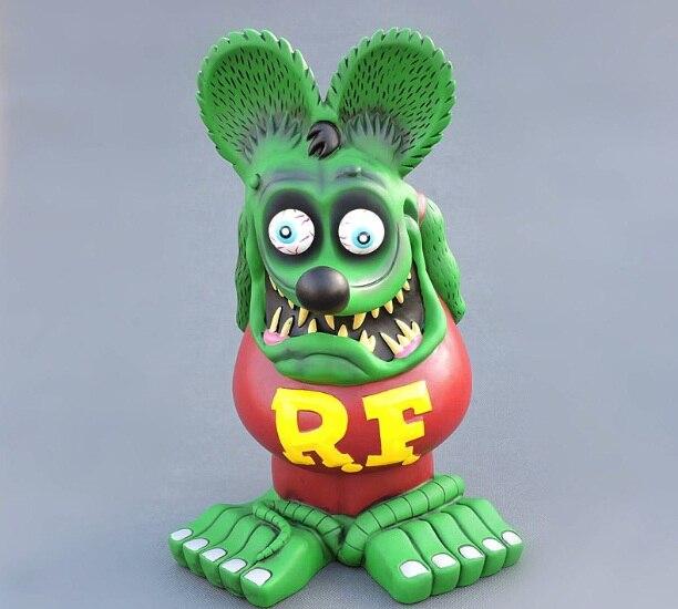 2018 nouveau 33 cm super grand 750g dur PVC PUNK RF Rat Figure d'action poupée terreur dessin animé Halloween décoration d12
