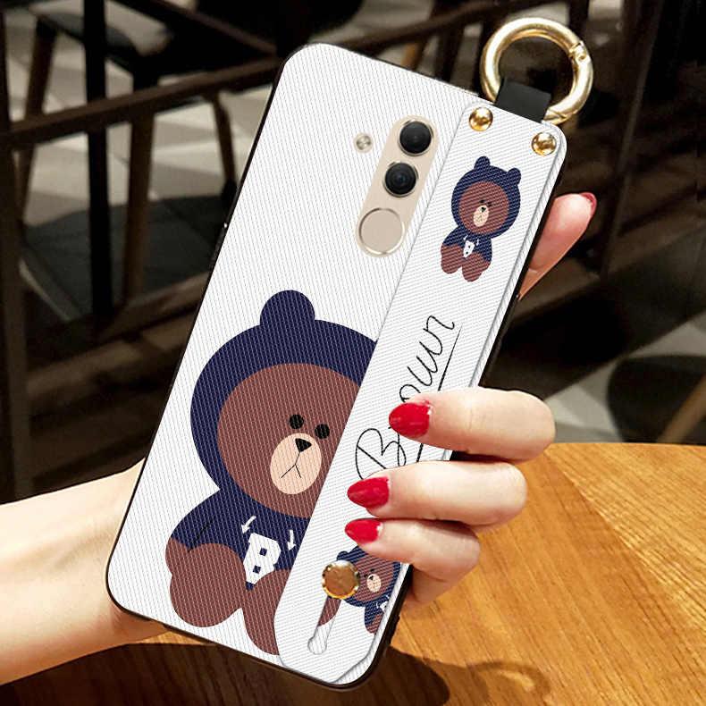 Забавный бурый медведь ремешок чехол для Huawei Mate 7 8 9 10 20 Lite 20X силиконовые чехлы для Huawei Honor 8 Pro вид 10 20 задняя крышка