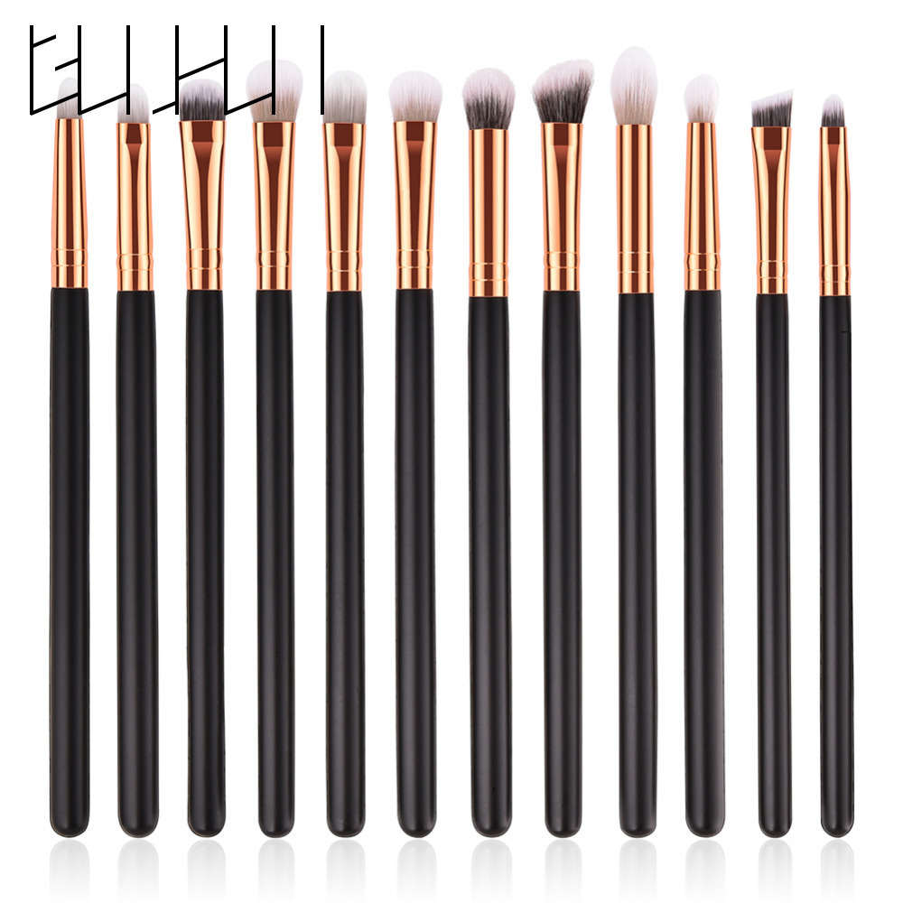 12pcs Eyeshadow Makeup Brushes Kit Eyeliner Powder Eyeshadow Eyebrow Blending Eye Lip Cosmetic Makeup Brushes Tool Set Maquiagem 1 4pcs cosmetic makeup brushes set eyebrow eyeliner eyelashes lip makeup brush kits eyeshadow blush brushes pinceis de maquiagem