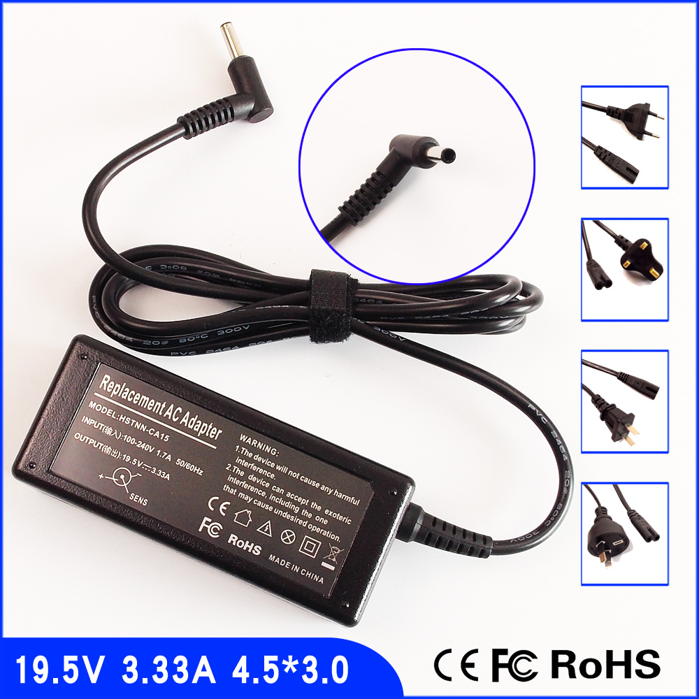 19.5V 3.33A Laptop Ac Power Adapter Charger for HP Spectre x360 Pro G1,13-4102dx,Split X2 Split 13-m003tu(E4Y06P)