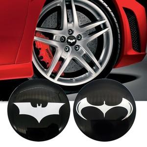 4pcs 3D Batman Car Tire Steeri