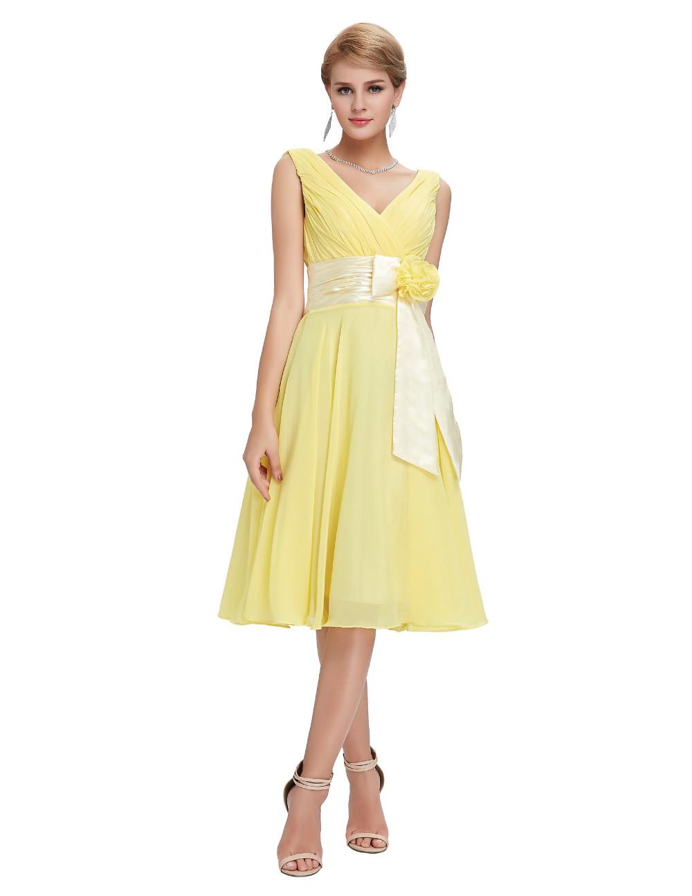 HTB1mOLTMVXXXXcJXVXXq6xXFXXX3Knee Length Short Chiffon Blue Dress