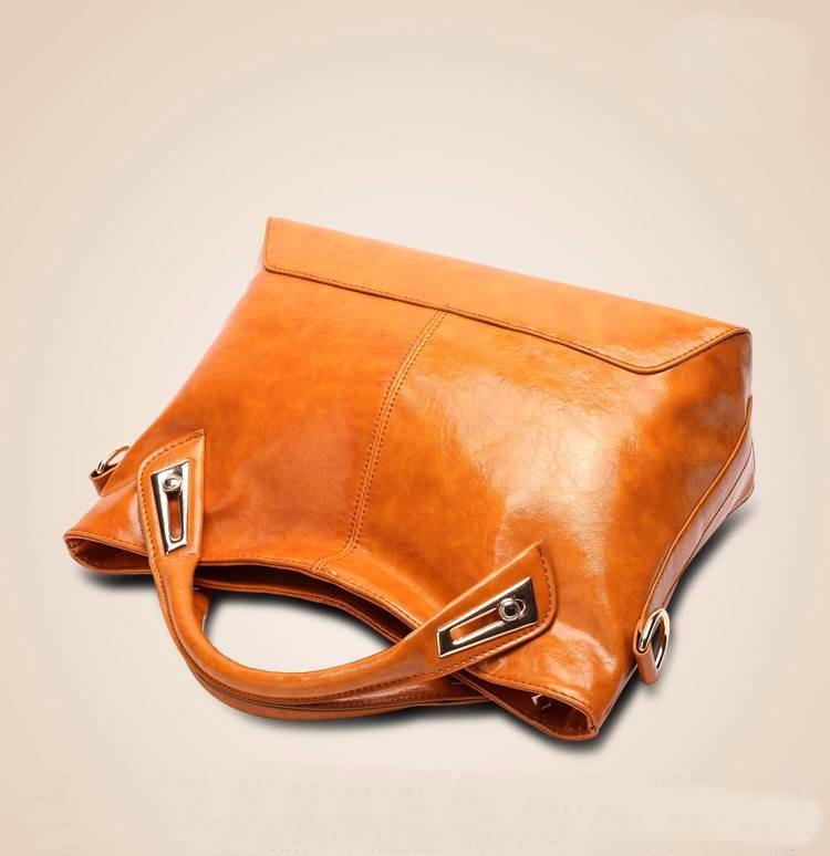 Women Oil Wax Leather Designer Handbags High Quality Shoulder Bags Ladies Handbags Fashion brand PU leather women bags WLHB1398 17