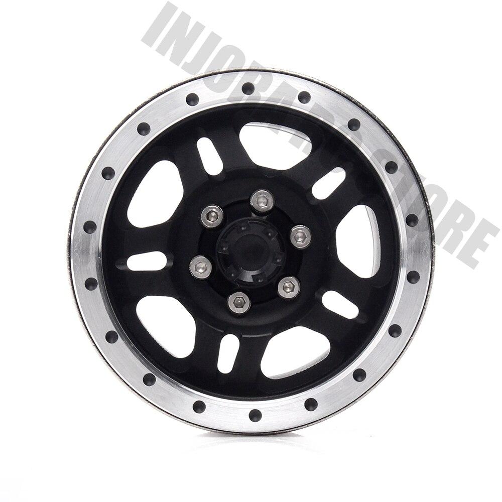 Alliage de métal lourd INJORA jante de roue Beadlock 1.9 pouces pour 1:10 RC chenille axiale SCX10 & SCX10 II 90046 90047 D90 TF2 - 4