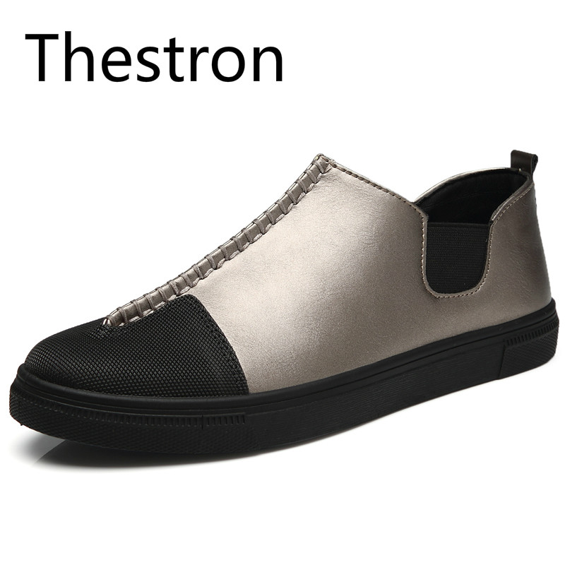 Thestron Men Shoes Man Loafers White Black Men Casual Shoes 2018 Summer Autumn New Male Slip-On Brand Designer Shoes Luxury