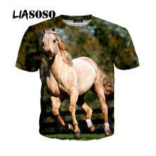 d886143d9 LIASOSO Fashion Women Men Summer T Shirt 3D Unicorn Horse Printed Short  Sleeve Tops Tee Shirts Female Round Neck Man Tshirt Y067