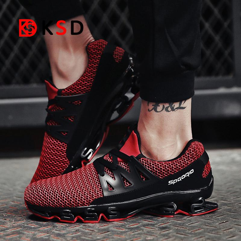 Mesh breathable elastic sneakers