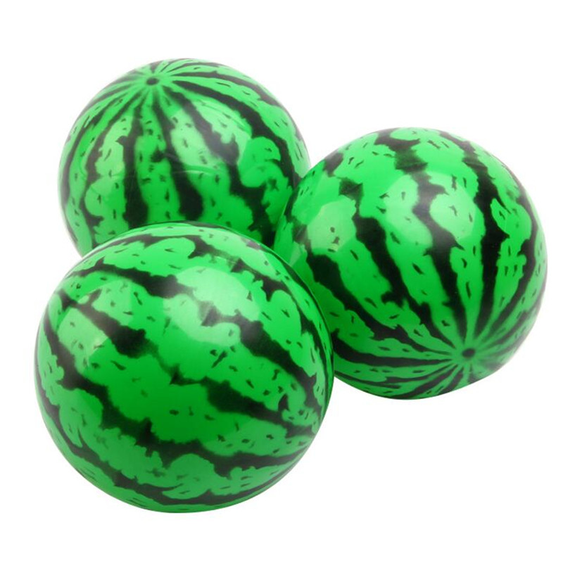 2018 Children Inflatable Watermelon Air Stress Ball Baby Bouncing Ball Outdoor Sports Toys Party Favors Gift Christmas New Year