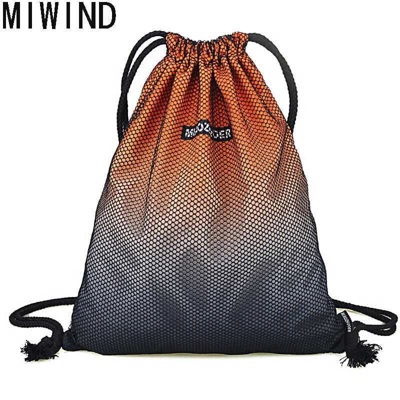 fbaf928a8f MIWIND Gradient Printing Drawstring Backpack Unisex BackPack Bag for  Teenagers Daily Fashion High Quality Large Bag
