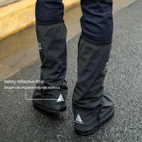 Capas de sapato à prova dreágua reutilizável para motocicleta ciclismo bicicleta bota capa chuva para sapatos em creek chuvoso e dia nevando