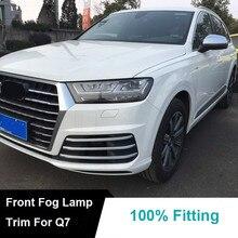 Chrome lampa Światła Przeciwmgielne Z Przodu pokrywa trim udekorować Dla 2016 Audi Q7 S line sport car styling akcesoria