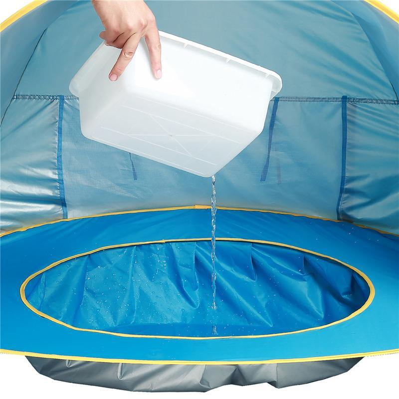 Portable baby beach tent UPF 50 Waterproof Sun Shelter UV protecting Sunshelter with Pool Kid Outdoor Camping Sunshade Beach in Toy Tents from Toys Hobbies