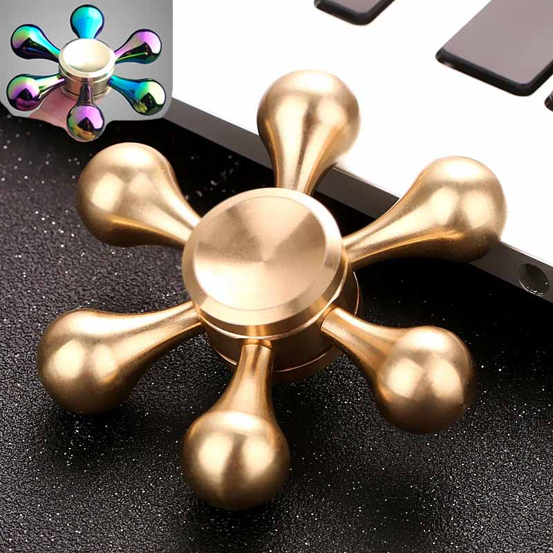 Hand Spinner Golden Snitch Fidget Spinner Heart Tri Finger Spinner Brass Spiner Comes Anti Relieve Stress Fidger Figit Toys Gold