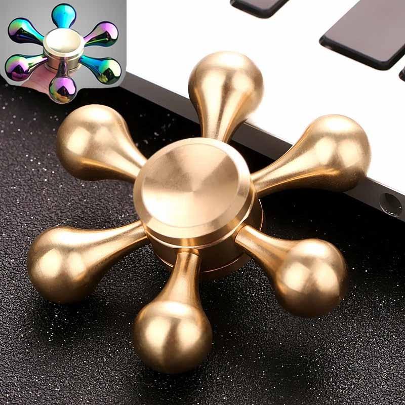 Hand Spinner Golden Snitch Fidget Spinner Heart Tri Finger Spinner Brass Spiner Comes Anti Relieve Stress Fidger Figit Toys Gold