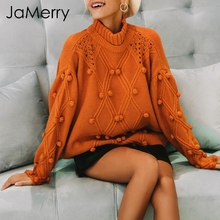 JaMerry O neck knitted sweater women 2018 Autumn Winter twist casual jumper sweaters female pullover Tricot batwing sleeve