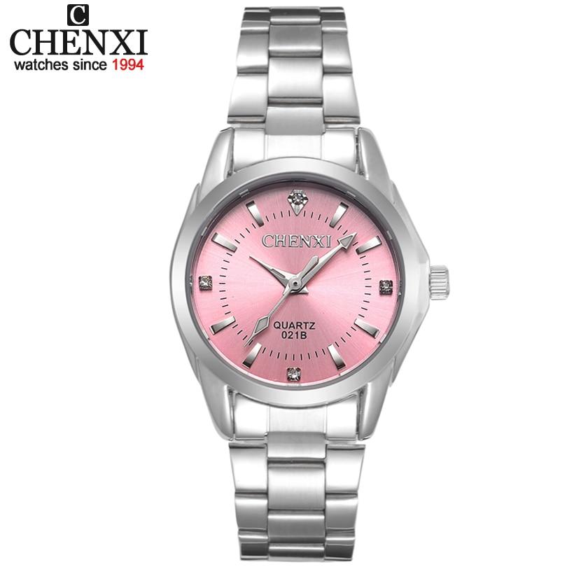 CHENXI Brand Top Luxury Ladies Gold Watch Women Golden Clock Female Women Dress Rhinestone Quartz Waterproof Watches Feminine 28