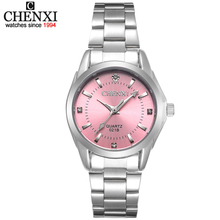 5 colores de moda chenxi cx021b del relogio marca de lujo ocasional de las mujeres relojes a prueba de agua reloj de las mujeres vestido de la manera del reloj del rhinestone