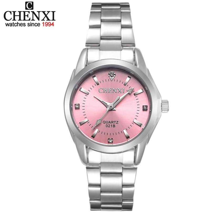 Prix pour 5 Mode couleurs CHENXI CX021B Marque relogio De Luxe de Femmes Casual montres montre étanche femmes Robe Strass montre de mode