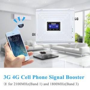 Image 3 - Lintratek 3g gsm 4g repetidor de sinal 4g lte 1800 gsm 1800 mhz 3g umts 2100 mhz lcd amplificador de reforço de sinal de telefone móvel kit completo.