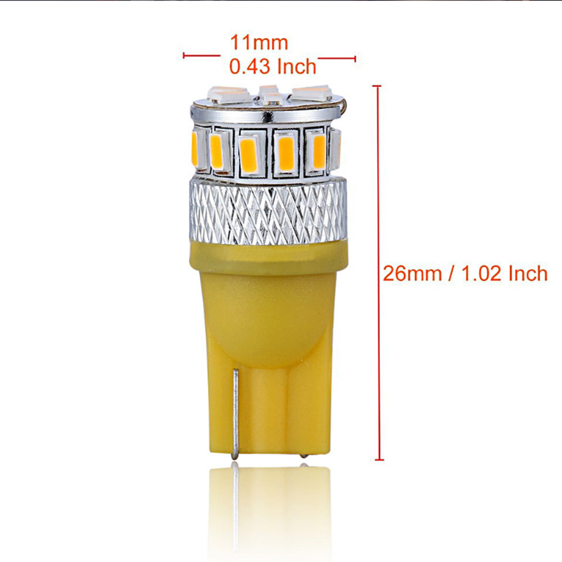 Viewi 10X t10 w5w led interior car lights 2W 3014 18 leds T 10 No Error LED Light Parking Auto Side Lighting Universal Cars bulb