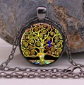 HOT The Tree of Life by Gustav Klimt pendant necklace Art tree jewelry necklaces & pendants