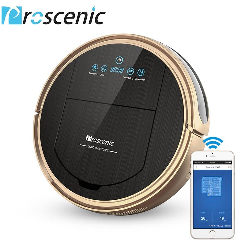 Robot Aspirateur Proscenic 790 t 1200 Pa Puissance D'aspiration Aspirateur Robot avec Wifi Connecté À Distance Contrôle Aspirador
