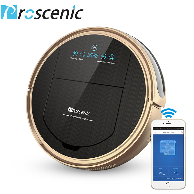 Robot Vacuum Cleaner Proscenic 790T 1200Pa Power Suction Vacuum Cleaner Robot with Wifi Connected Remote Control