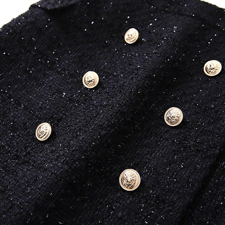 Doble Longitud Con Fragancia Seda Alta De Breasted Trasero Cintura Y Falda Media Brillante Pequeñas Nuevo 10vdAx1
